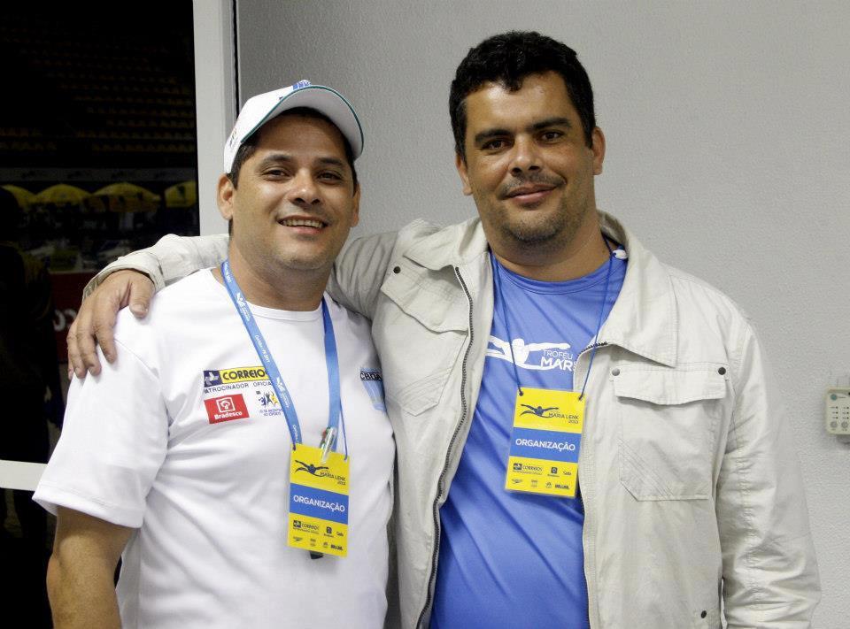 Com Rodolfo Carneiro, locutor da CBDA