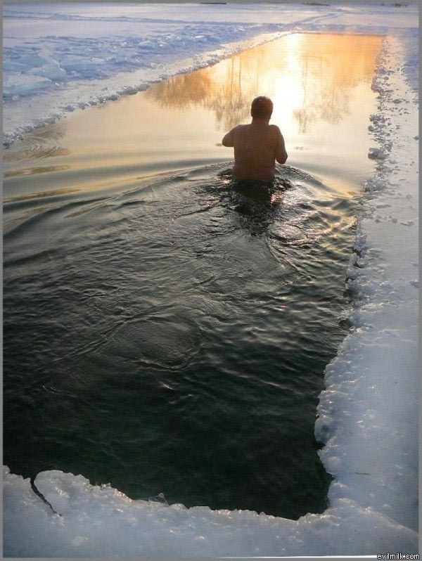 Ice swimming pool