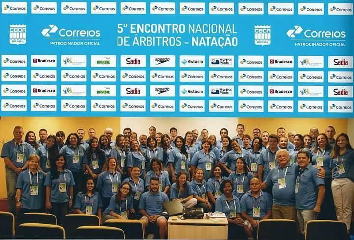 Participantes do 5o. Encontro Nacional de Árbitros de Natação