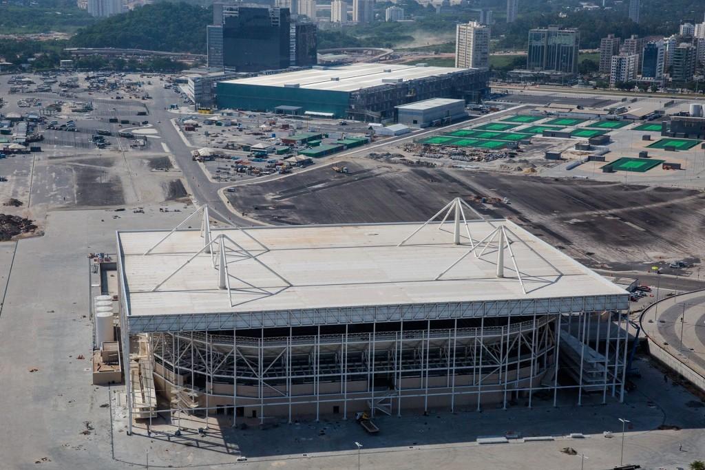 Parque Olímpico, local das competições de natação no Rio 2016